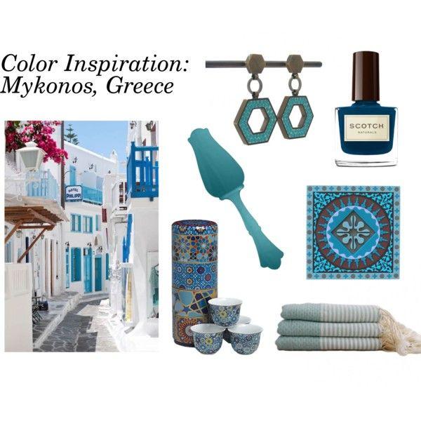 StyleVisa Color Inspiration: Mykonos Greece