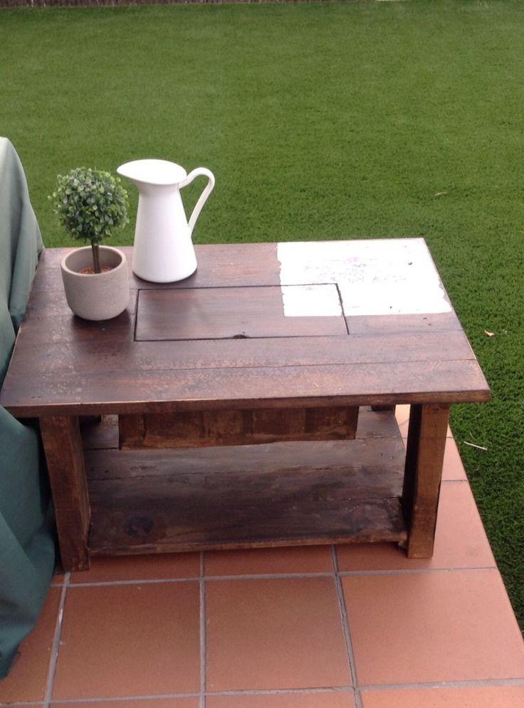 199 best mesas y mesas auxiliares de palets images on pinterest side tables pallets and home - Mesas de palets ...