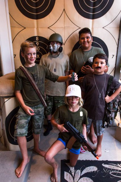 Military, Nerf, Camo Birthday Party -- must have a photo booth!