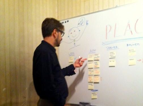 Budapest, Hungary, Brainstorming at Place! headquarter https://www.kickstarter.com/projects/716335164/place-leave-your-impression?ref=discovery