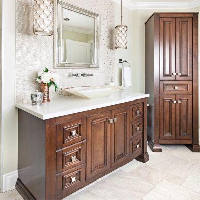 Ornement chic pour une salle de bain classique - Salle de bain - Inspirations - Décoration et rénovation - Pratico Pratique