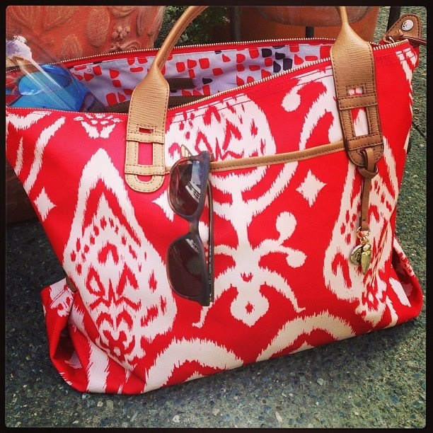 Loving the Red Ikat!