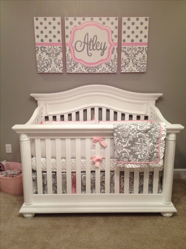 25 unique pink gray nurseries ideas on pinterest baby girl nursery pink and grey pink new. Black Bedroom Furniture Sets. Home Design Ideas