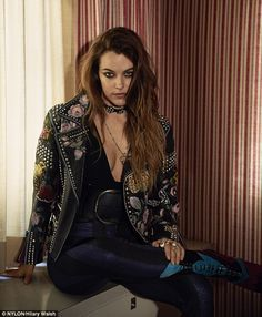 Laid back: Riley Keough, 26, said she has a 'hippie' approach to sex ...