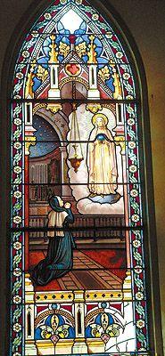 """""""El Milagro"""",La segunda aparición de la Virgen de la Medalla Milagrosa en la sede de las Hijas de la Caridad en Paris, San Miguel, El Salvador"""