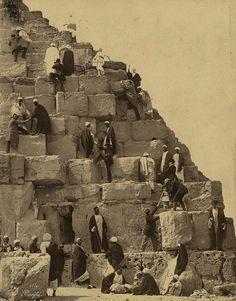 Archaeoart - Great Pyramid at Giza, Egypt, circa 19th century.
