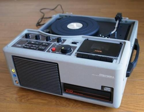 Columbia Record Player For CD And Cassette Tape