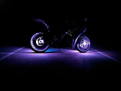 1 Purple LED Motorcycle Wheel Lighting Custom Neon Glow Pod Accent Bike Sport B   eBay