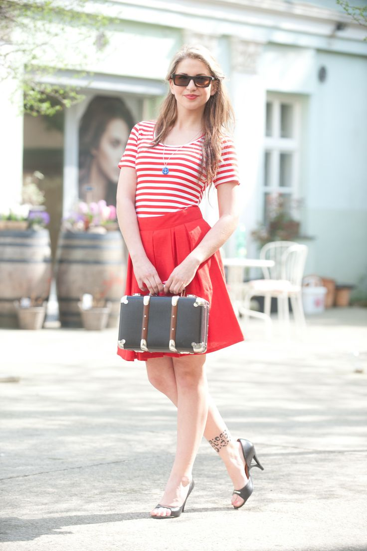 striped topIiNDIVA, Linen skirt KOBRAMODE, BAMBOO Sunglasses, Jewelry Design Empathy, suitcase KAZETO  #czechfashion #prague #czech #pragueshopping #czechdesigners #czech designers #fashion #love #accesories #bags #chic #boho #style #instyle #homedecor #localfashion #local products #no fur shop #outfit #whowearus #howtowearit #hippie #elegant #gypsy #citylook #quality #folk