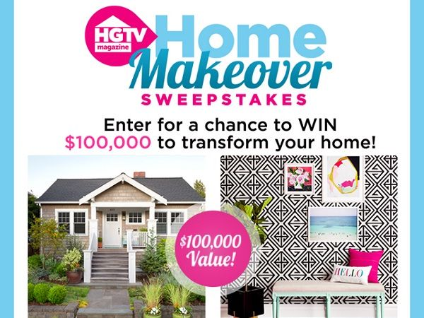 Just Enter To Win 100000 Cash For Home Makeover From Hgtv