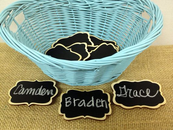NEW Chalkboard Name Tags- set of 6- Magnetic Name Tags, Reusable,--Perfect for Office Parties, Meeting, and Corporate Events