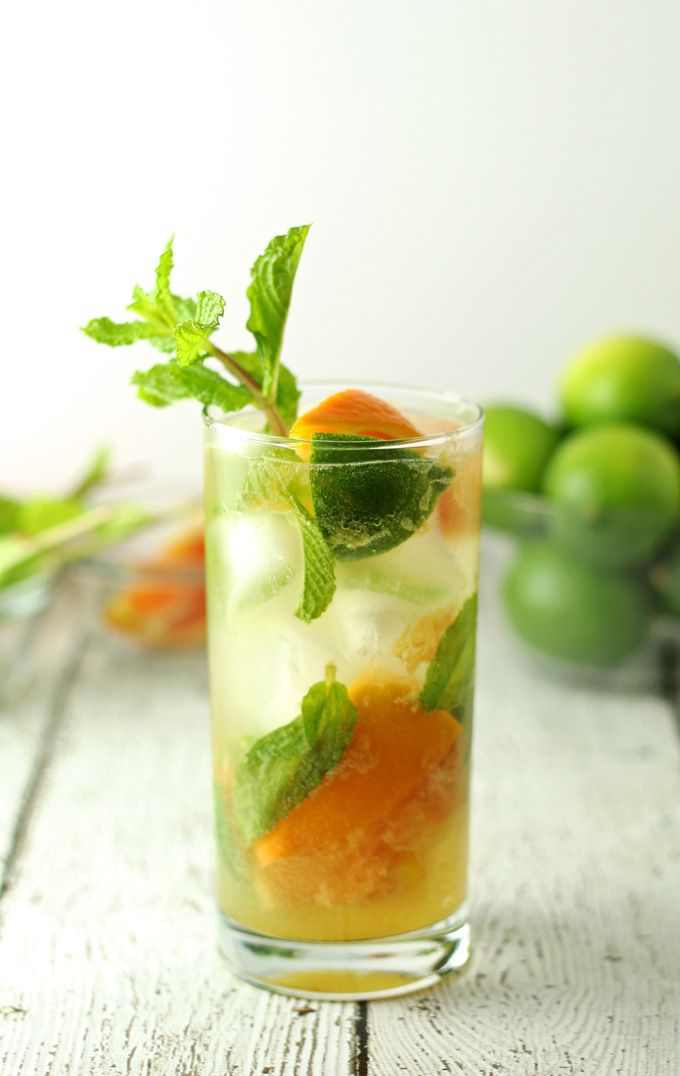 Orange mojitos are the perfect refreshing summer drink! Keep all the ingredients on hand so you can make them all summer long! | honeyandbirch.com