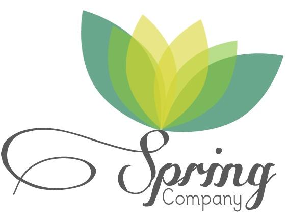 tavaszt váró logó design