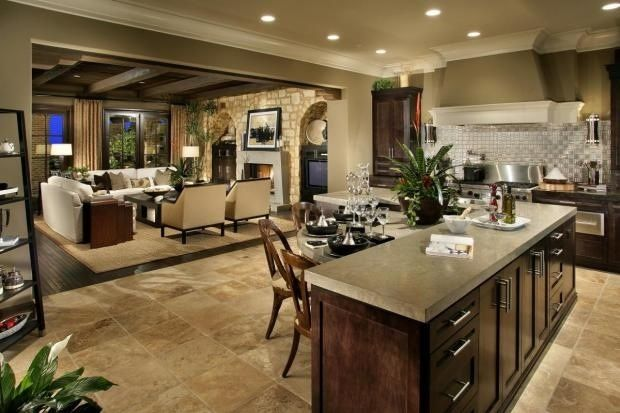 Open Concept Kitchen And Living Room Image Review
