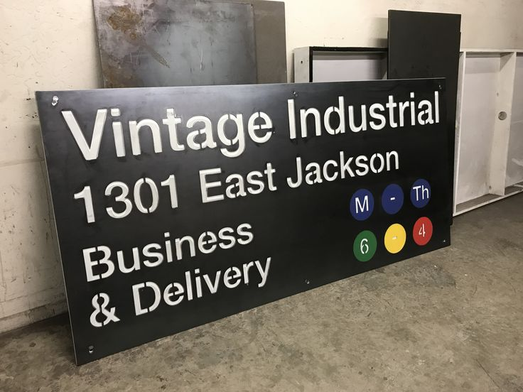 Custom sign we made for our shop...