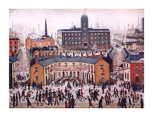 VE Day Celebrations by L.S Lowry