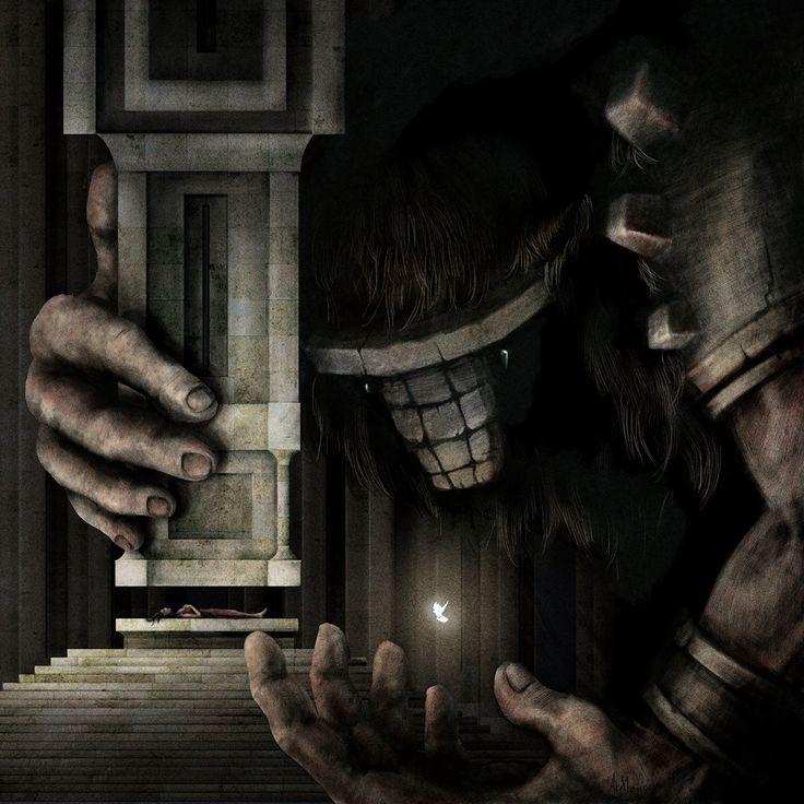 """L'opera """"Shadow of the Colossus"""" di Alice Manieri per la mostra di Fino Mornasco"""