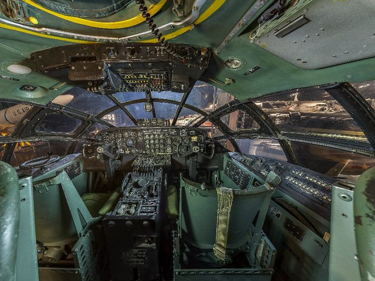 Convair B36 Peacemaker cockpit Us military aircraft