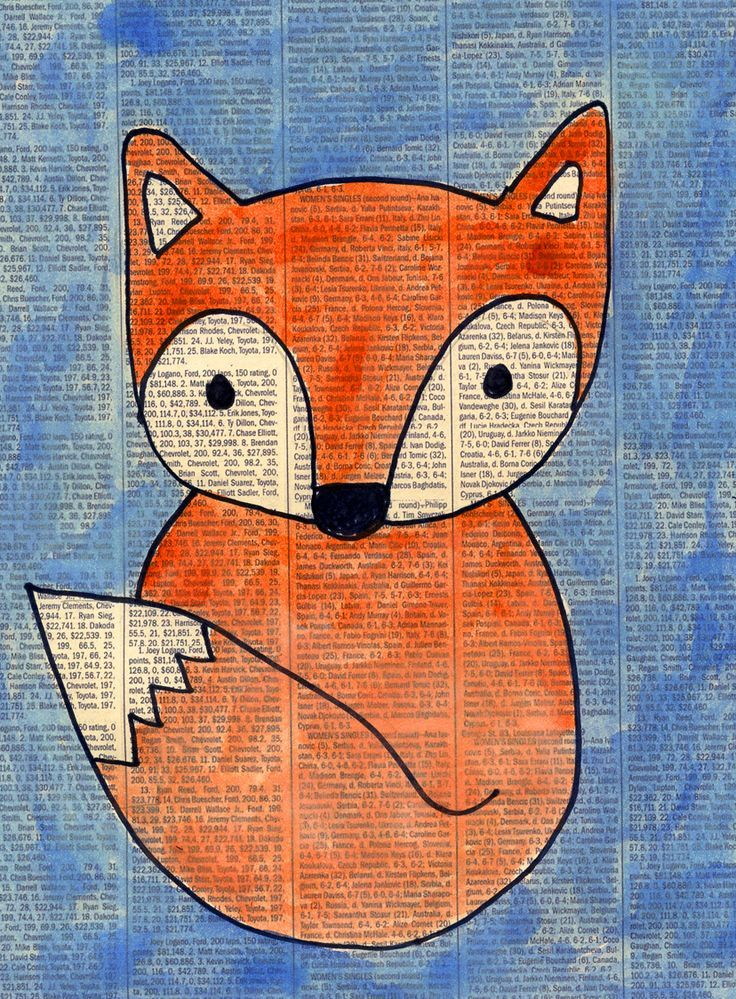 Newspaper Fox art project from Art Projects for Kids