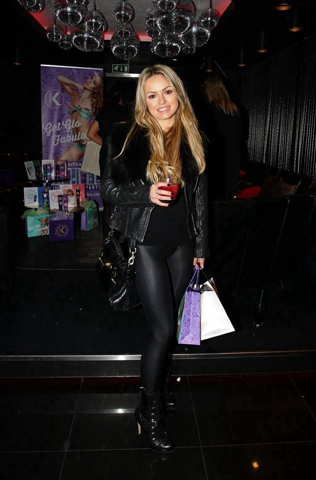 Ola Jordan Leather Latex Leggings Ola Jordan