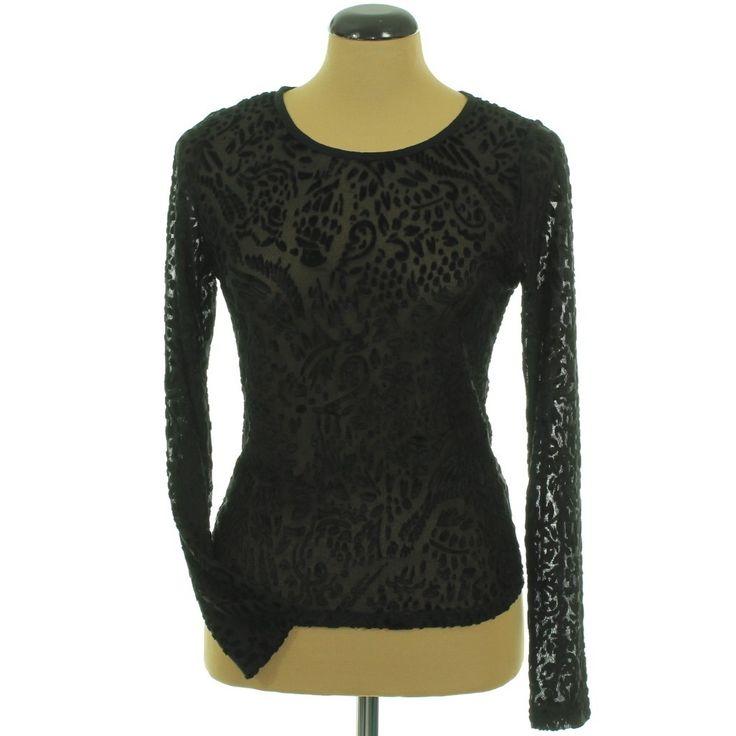 Atmosphere bársonymintás fekete felső | Felső, pulóver, ing - Női ruha