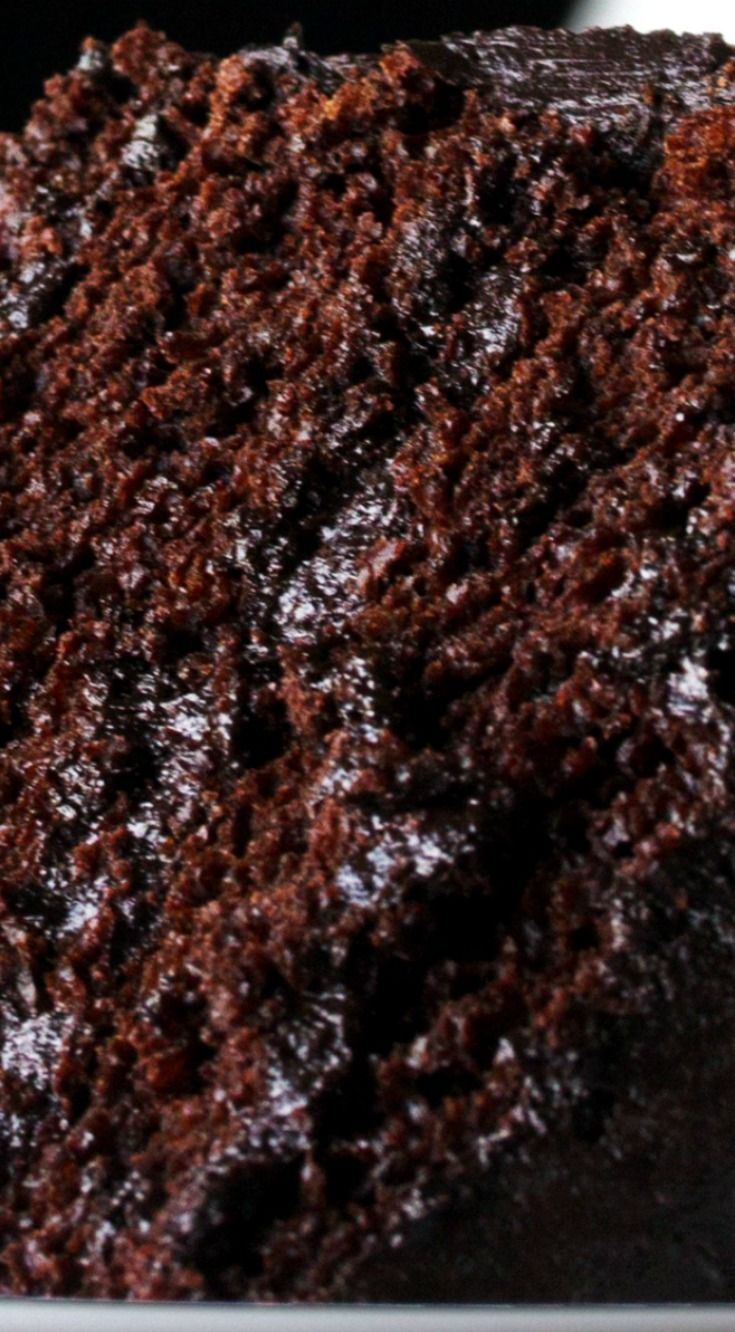 The Most Amazing Chocolate Cake ~ Moist, chocolaty perfection... This is the chocolate cake you've been dreaming of!