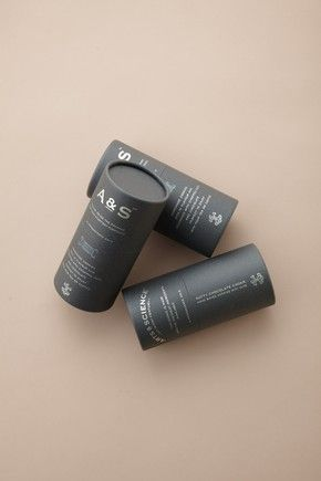 packaging, branding, typography, cylinder tube, gray, beige
