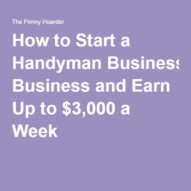 how to start a handyman business