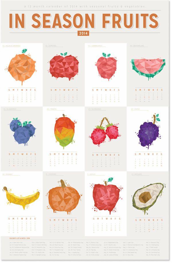 visualgraphc: Fruit 7 Vegetables Calendar - Ramiro Carranza