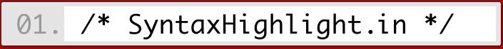 Online syntax highlighter