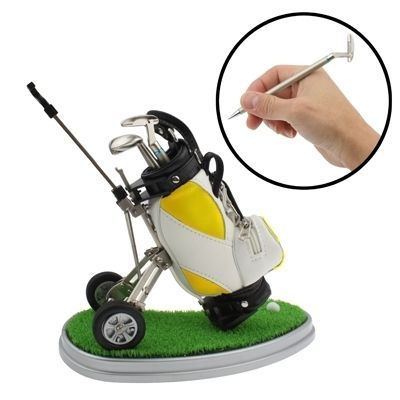 M Synthetic Leather Golf Trolley Design Pen Holder with 3 Golf Gear Shaped Pens: Bid: 33,47€ Buynow Price 33,47€ Remaining 05 dias 04 hrs…