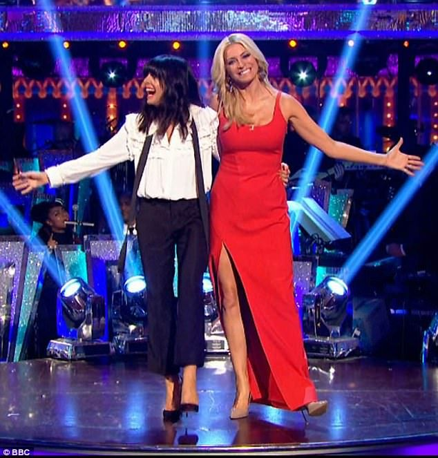 Strictly stunning:Claudia Winkleman and Tess Daly naturally did not disappoint on Saturda...