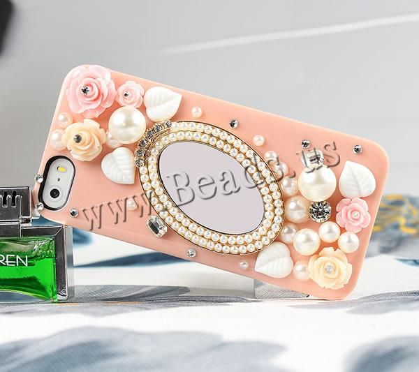 Customized Mobile Phone Cases, Plastic, with Glass & Resin & ABS Plastic