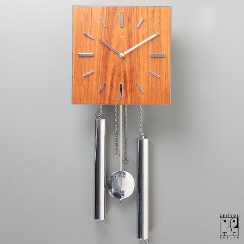 Seltene Junghans Pendel Uhr im Stil der Bauhaus Moderne - ZEITLOS – BERLIN