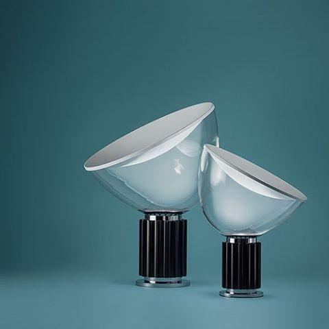 The Taccia table lamp designed by brothers Achille Castiglioni and Pier Giacomo Castiglioni for Flos. A 1960's design classic.