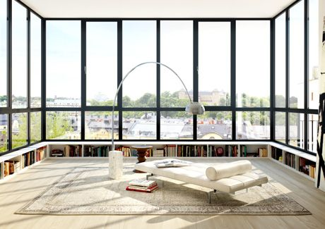 Oscar Properties : Biografen #oscarproperties windows, sofa, carpet, library