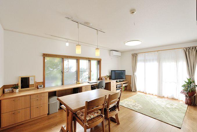 二重サッシ+床暖房で暖かく結露対策バッチリなLDKリフォーム | 名古屋のリフォームとリノベーション モアリビング