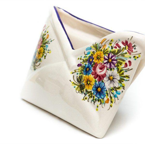 Portadocumenti da scrivania in ceramica Fioraccio - Liberati