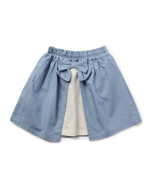 HusHusH(Kids)(ハッシュアッシュ) 異素材MIX2WAYスカート