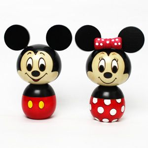 Mickey minnie mouse wooden dolls and minnie mouse on pinterest