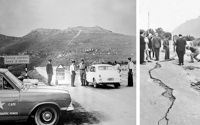 Earthquake in Tulbagh, outside of CT, 29 Sept.1969