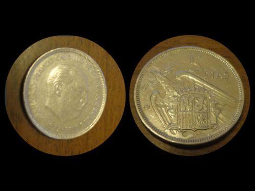 Moneta 5 PESETAS Anno 1957 Spagna - Coin 5 PESETAS 1957 Spain