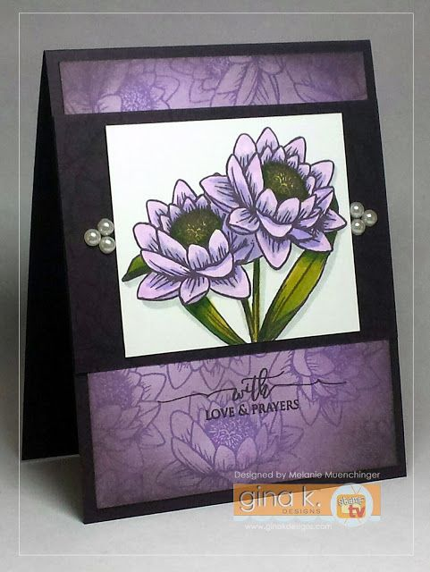 A Year of Flowers 3 card and stamp set by Melanie Muenchinger for Gina K. Designs.