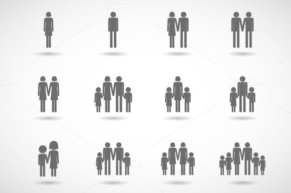 Family Pictograms. Human Icons. $10.00