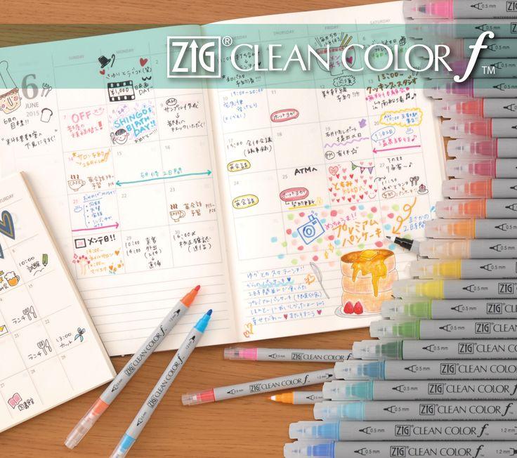 ZIG CLEAN COLOR f water-based Dye ink 0.5mm-1.2mm_Tip