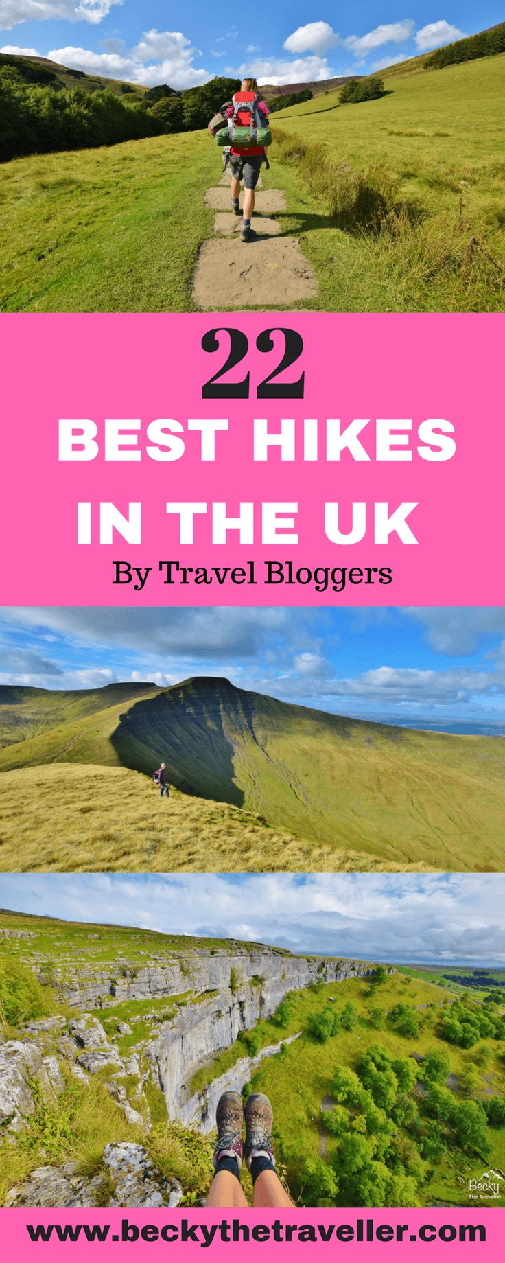 Best day hikes in the UK. A list of the best day hikes in the UK from Travel bloggers. Best hikes in England. Best hikes in Northern Ireland. Best Hikes in Scotland. Best hikes in Wales. Includes bloggers favourite hikes plus top tips, hiking distance and hiking time for completing the walks. Hikes include Scafell Pike, Dovedale Walk Peak District, Ben Nevis, Pen y Fan, Edinburgh Leith, St Agnes, Conic Hill. And many more. Best hikes | Best walks | Day hikes | UK hiking | UK walks
