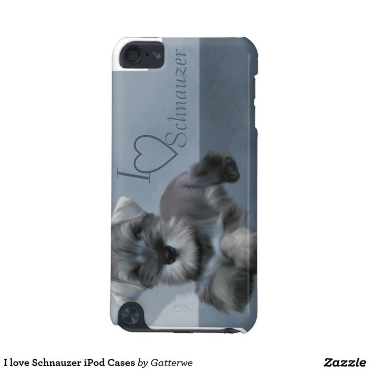 I love Schnauzer iPod Cases iPod Touch (5th Generation) Case