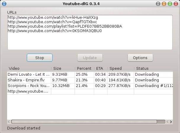 Youtube-dlG - Une interface graphique pour télécharger des vidéos Youtube (and co) facilement (plusieurs options)