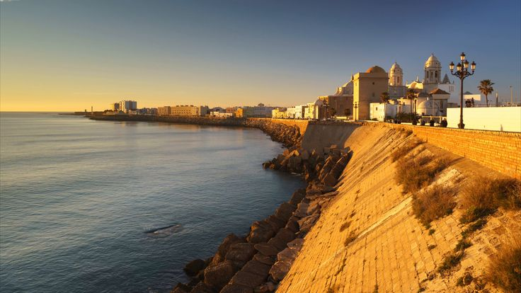 Cadiz Panorama at Sunset  Andalusia Spain Time-Lapse - Stock Footage | by PabloAvanzini
