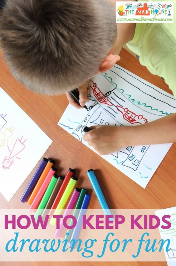 How to keep your kids drawing for fun. Keep the joy of creativity in your kids life, but keeping them drawing even through the tween and teen years